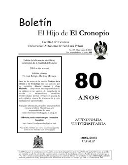 2003 - Facultad de Ciencias - Universidad Autónoma de San Luis