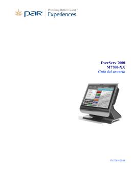 EverServ 7000 M7700-XX Guía del usuario