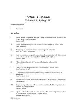 Letras Hispanas - Department of Modern Languages