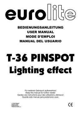 EUROLITE T-36 User Manual