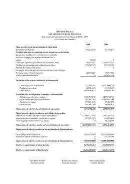 Estados Financieros Banco Uno Marzo 2005