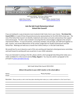 Join the Salt Creek Elementary School School Site Council!