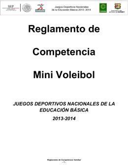 Reglamento de Competencia Mini Voleibol
