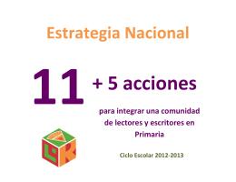 estrategia nacional 11+5 acciones para integrar una comunidad de