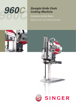 Singer 960C Straight Knife Cloth Cutting Machine | Specification Sheet