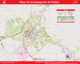 Plano de los transportes de Griñón