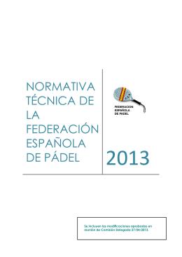 Normativa técnica - Federación Española de Padel
