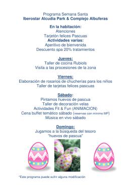Programa Semana Santa Iberostar Alcudia Park