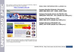 http://unapec.edu.do PARA MAS INFORMACIÓN LLAMAR AL: