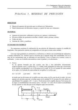 Práctica 1. MEDIDAS DE PRECISIÓN