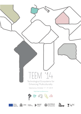 TEEM `14 - Technological Ecosystems for Enhancing Multiculturality
