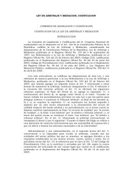 Ley de Arbitraje y Mediación.