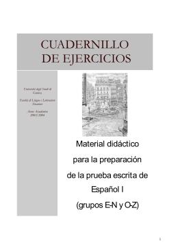 cuadernillo de ejercicios - Iberistica