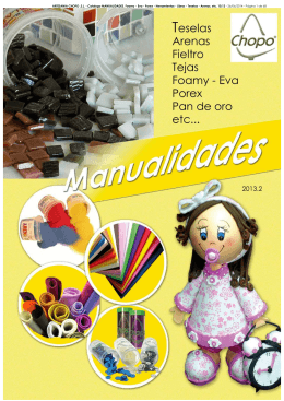 Catalogo MANUALIDADES. Foamy - Eva - Porex