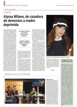 Alyssa Milano, de cazadora de demonios a madre deprimida