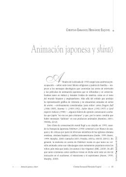 Animación japonesa y shinto - Universidad Autónoma del Estado de