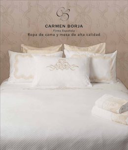 Ropa de cama y mesa de alta calidad