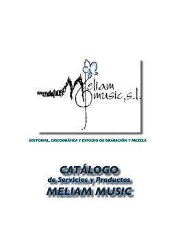CATÁLOGO MELIAM MUSIC