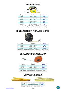 FLEXOMETRO CINTA METRICA FIBRA DE VIDRIO CINTA