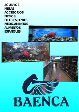 Acuarios, mesas, accesorios, filtros, fluorescentes, medicamentos