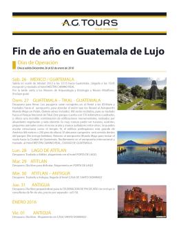Fin de año en Guatemala de Lujo