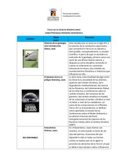 Carátula Título Autor Resumen Historia de la geología. Una