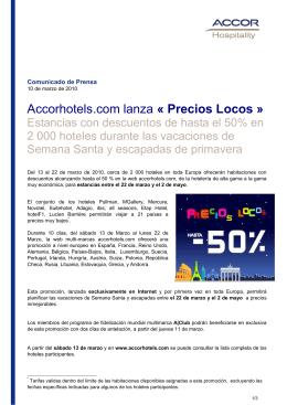 CP PRECIOS LOCOS - AccorHotels