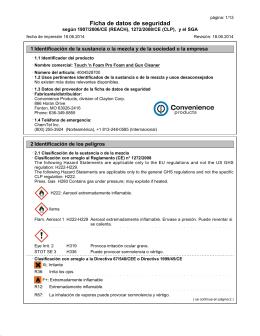 Ficha de datos de seguridad