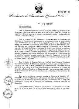 Líma, Zg H0\¡2011 - Ministerio de Educación del Perú