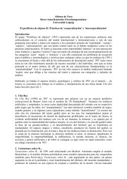 periférico de objetos II: Prácticas de `corporalización`