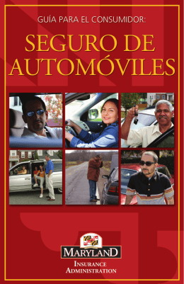seGuro de auTomÓViles - Maryland Insurance Administration