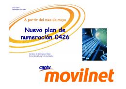 Nuevo plan de numeración 0426