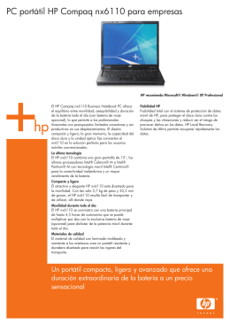 HP Commercial Notebook Datasheet