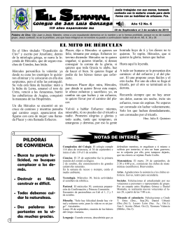 El Semanal - Colegio de San Luis Gonzaga