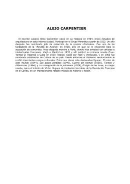 El siglo de la luces, Alejo Carpentier