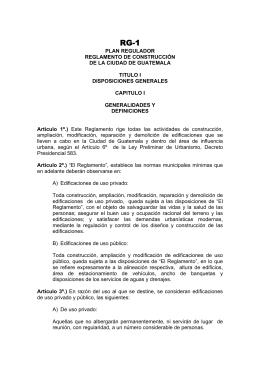 plan regulador reglamento de construcción de la ciudad
