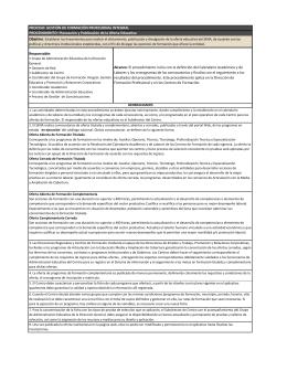 PROCEDIMIENTO: Planeación y Publicación de la Oferta Educativa