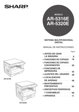 AR-5316E/5320E Operation-Manual Copier ES