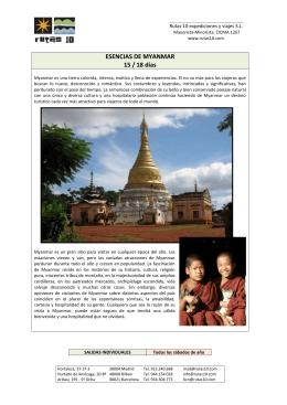 MYANMAR ESENCIAS
