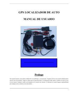 GPS LOCALIZADOR DE AUTO MANUAL DE USUARIO