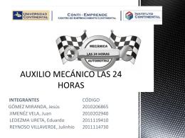 AUXILIO MECANICO LAS 24 HORAS - Centro de Emprendimiento
