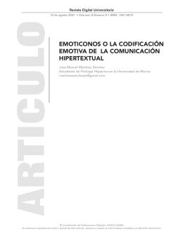 emoticonos o la codificación emotiva de la comunicación hipertextual