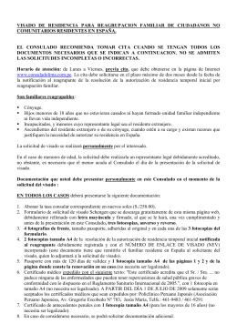 Reagrupación Familiar - Consulado General de España en Lima