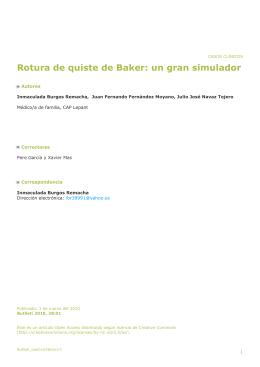Rotura de quiste de Baker: un gran simulador - B