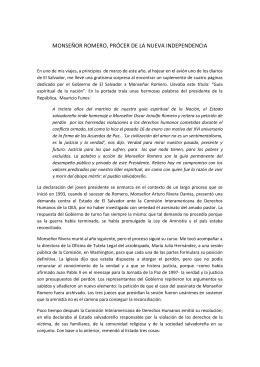 Intervención del Obispo Gregorio Rosa Chávez