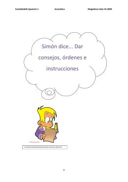 Simón dice... Dar consejos, órdenes e instrucciones