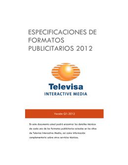 Especificaciones de formatos publicitarios 2012