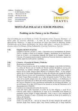 MONTAÑAS POLACAS Y SUR DE POLONIA Trekking en los Tatras