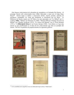 Colecciones del billar