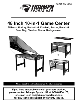 48 Inch 10-in-1 Game Center